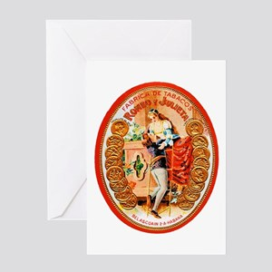 Romeo & Juliet Cigar Label Greeting Card