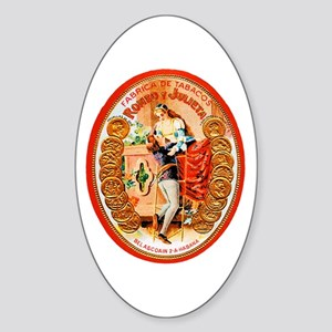Romeo & Juliet Cigar Label Sticker (Oval)