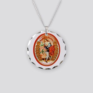 Romeo & Juliet Cigar Label Necklace Circle Charm