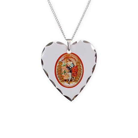 Romeo & Juliet Cigar Label Necklace Heart Charm