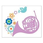 French Horn Player Music Small Poster