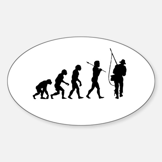Evolved To Fish Sticker (Oval)
