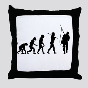 Evolved To Fish Throw Pillow