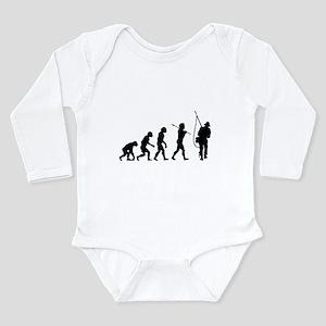 Evolved To Fish Long Sleeve Infant Bodysuit