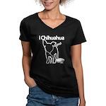 iChihuaua Women's V-Neck Dark T-Shirt