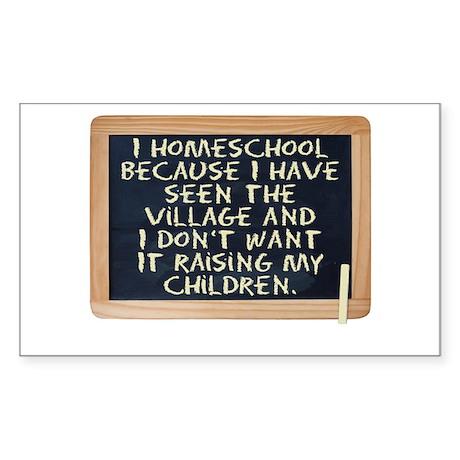 Homeschool Sticker (Rectangle)