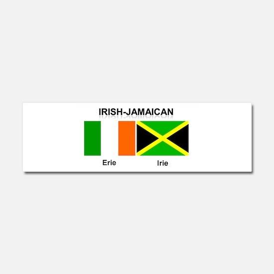 Irish-Jamaican Car Magnet 10 x 3