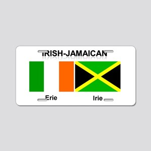 Irish-Jamaican Aluminum License Plate