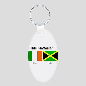 Irish-Jamaican Aluminum Oval Keychain
