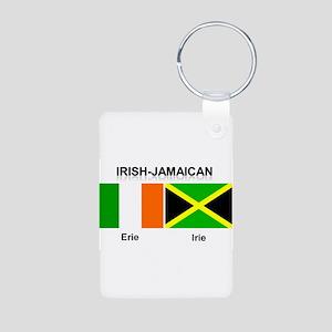 Irish-Jamaican Aluminum Photo Keychain