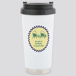 Any Day at the Beach Stainless Steel Travel Mug