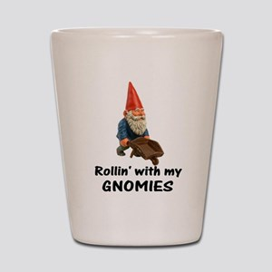 Rollin' With Gnomies Shot Glass