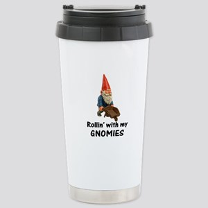 Rollin' With Gnomies Stainless Steel Travel Mug