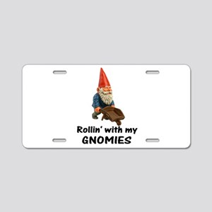Rollin' With Gnomies Aluminum License Plate