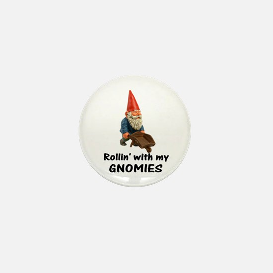 Rollin' With Gnomies Mini Button