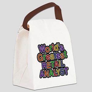 Worlds Greatest RETAIL ANALYST Canvas Lunch Bag