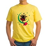 Devil cat 2 Yellow T-Shirt