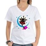Devil cat 2 Women's V-Neck T-Shirt
