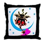 Devil cat 2 Throw Pillow
