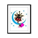 Devil cat 2 Framed Panel Print