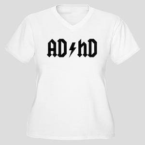 """AD/HD"" Women's Plus Size V-Neck T-Shirt"