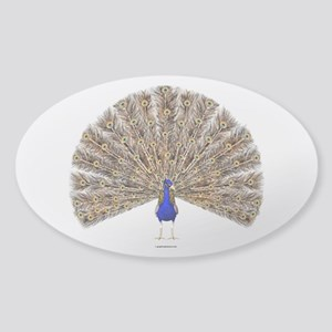 The Peacock Sticker (Oval)