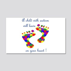 Footprints on your heart 22x14 Wall Peel