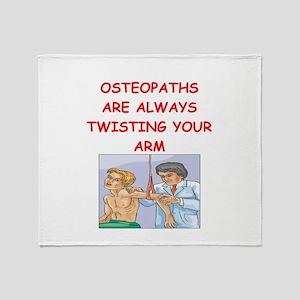 osteopath joke Throw Blanket