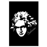 Beethoven Music Silhouette Large Poster