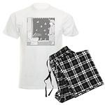 Commodo Dragon (no text) Men's Light Pajamas