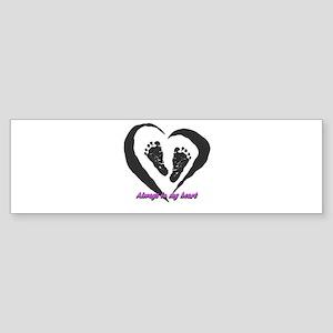 Baby Girl Angel Bumper Sticker