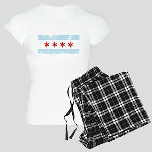 Chicago Flag Distressed Women's Light Pajamas