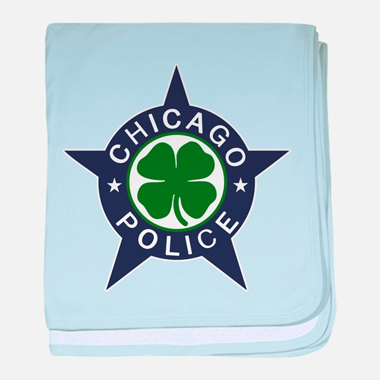 Chicago Police Irish Badge baby blanket