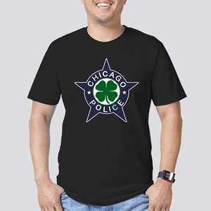 Chicago Police Irish Badge Men's Fitted T-Shirt (d