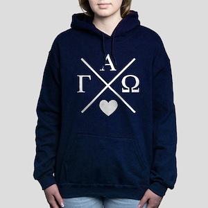 Gamma Alpha Omega Cross Women's Hooded Sweatshirt