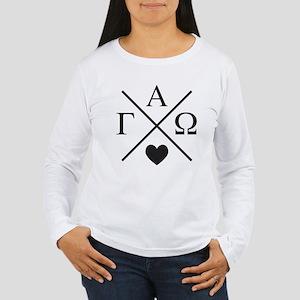 Gamma Alpha Omega Cros Women's Long Sleeve T-Shirt