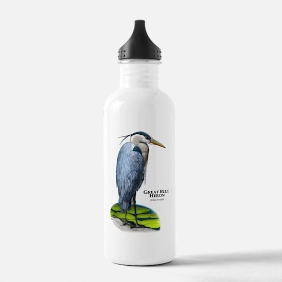 Great Blue Heron Water Bottle
