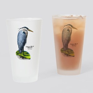 Great Blue Heron Drinking Glass