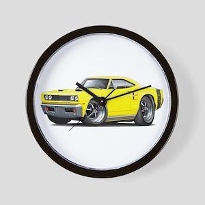 1969 Coronet Yellow Car Wall Clock