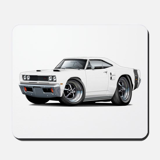 1969 Coronet White Car Mousepad