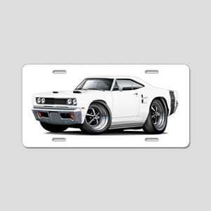 1969 Coronet White Car Aluminum License Plate