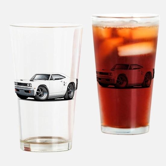 1969 Coronet White Car Drinking Glass