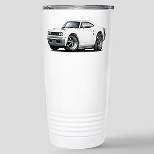 1969 Coronet White Car Stainless Steel Travel Mug