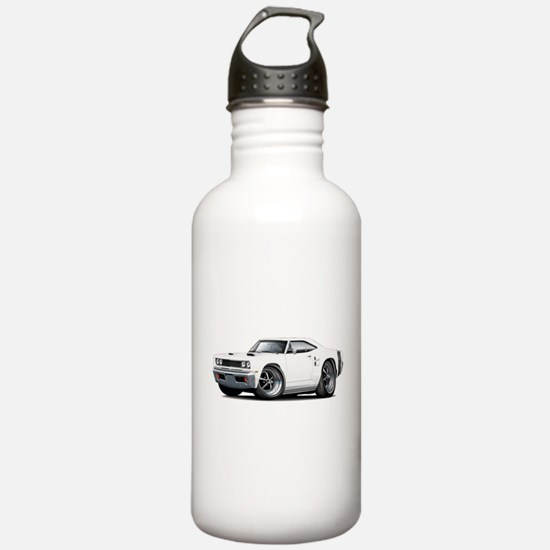 1969 Coronet White Car Water Bottle
