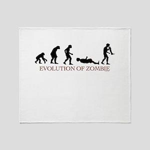 Evolution of Zombie Throw Blanket