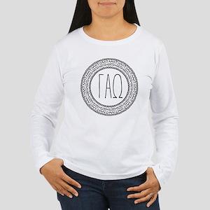 Gamma Alpha Omega Meda Women's Long Sleeve T-Shirt
