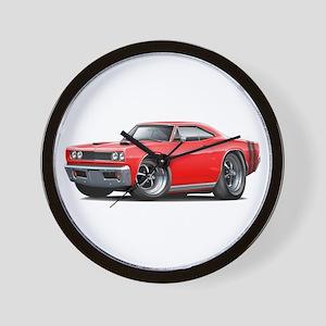 1969 Coronet Red Car Wall Clock