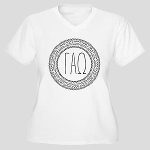 Gamma Alpha Omega Women's Plus Size V-Neck T-Shirt