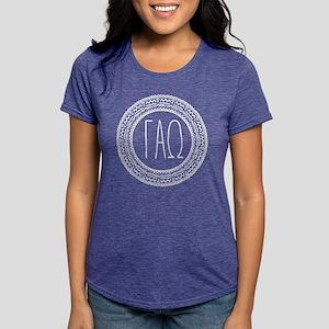 Gamma Alpha Omega Medall Womens Tri-blend T-Shirts