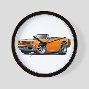 1969 Coronet Orange Convert Wall Clock